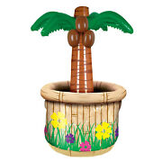 6 Inflatable Party Decorations Palm Tree Cooler Holds Apprx 24 12-oz Cans