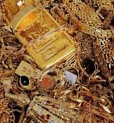 146g Scrap 10k Gold Filled/plated Watch Bands And Cases For Gold Recovery Yield