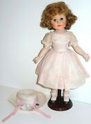 """Rare 1952 Madame Alexander """"madelaine"""" Doll 18 Jointed Original Tagged Outfit"""