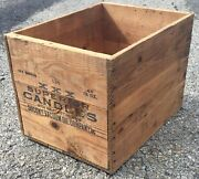 Old Vtg Antique Xxx Superior Candle Socony-vacuum Oil Company Wood Box Crate Gas