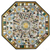 3and039x3and039 Black Marble Dining Table Top Inlay Mosiac Interior Home Decorate Art B033