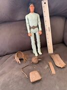 """Vintage 1967 Marx Johnny West Geronimo Indian 12"""" Action Figure With Accessories"""