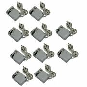 10x Lot Ac Wall Power Supply Charger Adapter Nintendo 3ds 2ds Xl Retail Packing