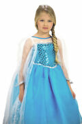 Elsa Inspired Princess Dress Costume For Girls New With Crown Frozen
