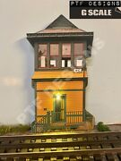 G Scale Yellow Switch Tower - Building Flat Trackside Flats W/led - Lgb Piko