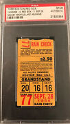 Mickey Mantle 1968 Psa Ticket Last Ab/game New York Yankees At Boston Red Sox