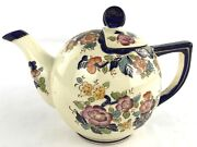Vintage Moriyama Teapot Cobalt Blue With And Gold Accents Made In Japan