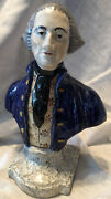 """Rare Antique Staffordshire George Washington Bust Early 1800s Details 8"""""""