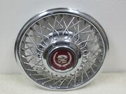 Vintage 1985 Cadillac Deville Fwd Oem 14 Wire Hubcap / Wheel Cover 54-6