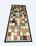28x56 Marble Dining Table Top Multi Stone Mosaic Inlay Occasional Decor B076