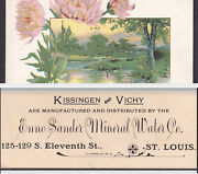 St Louis Enno Sander Mineral Water Co 1800's Kissingen And Vichy Trade Card
