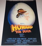 Ed Gale Legendary Actor Signed Autographed Howard The Duck 12x18 Poster +proof 2
