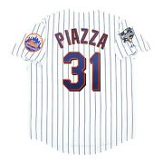 Mike Piazza New York Mets 2000 World Series Menand039s Home White Jersey M-2xl
