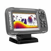 Fish Finder Lowrance Hook2 4x With Bullet Transducer Gps Plotter 4 X 4 In Screen