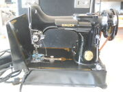 Singer 221-1 Featherweight Sewing Machine With Case