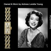 1960and039s Swiss Vintage Ladies 14k Gold P. Watch - Owned And Worn By Loretta Young
