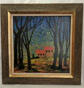 Vintage 1950and039s 60and039s Andre Fleuridas Mid Century Modernist Oil Painting