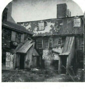Stereoview Old Spooky Witch House Salem, Mass 1692 Witchcraft Delusion Reprint