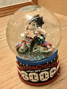 Collectible Betty Boop On Motorcycle Musical Globe
