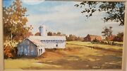 Barbara Nuss Watercolor Painting World Collected Artist Rural Farm Scene