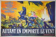 Gone With The Wind - Original French Poster - Very Rare