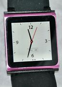 Apple Ipod Nano 6th Generation 8gb Pink With New Kubxlab Case And Watch Band