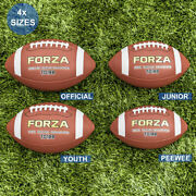 Forza Td100 American Football [4 Sizes] | Pu Leather - Official Sized Game Balls