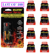 [lot Of 100] Hottest Wildfire Pepper Spray 1.4 Mc Keychain.8 Counter Displays