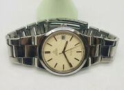 Vintage Omega Geneve Cream Dial Date Automatic Manand039s Watch