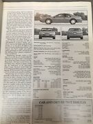 Car And Driver Magazine Thunderbird Sc Content Lot 13 Issues 1988-91 Super Coupe