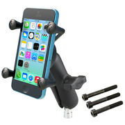 Ram Motorcycle M8 Screw Clamp Base Mount W/ X-grip - Fits Iphone Galaxy And More