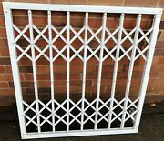Secure Steel Window Security White Grate Grill Cover Railings Bars 101cm X 95cm