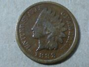 1888-p 1c Indian Head Cent Penny, Better Date, Antique Coinage, Free Shipping