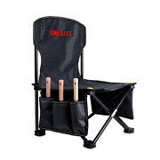 Idealux Garden Tool Set With Tote Folding Stool,trowels,cultivator And Weeding And