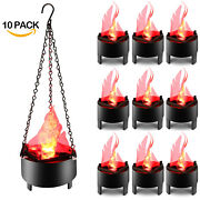 10pcs Hanging Led Artificial Fire Flame Lamp 3d Flickering Christmas Decor Light