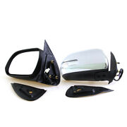 Door Wing Mirror Chrome Electric Led For 12-13 Toyota Hilux Vigo Mk7 An120 An130