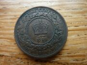 1864 New Brunswick 1 One Cent Coin Higher Grade Many Pics Ref4