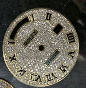 Rolex Custom Diamond Pave Dial W/ Roman Markers 36mm Quick-set Day-date