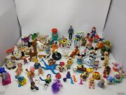 Vintage 81pc Toy Lot-mcd's Plastic Wind Up-furby-disney-muppets-ms Pac Man+ More