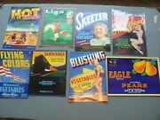 Original Vintage Crate Labels Lot Of 26 Vg -mint Unused Collection Group 2 Of