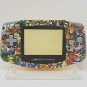Retro Game Collage Gba Complete Handheld Housing Shell Game Boy Backlit Ips Lcd