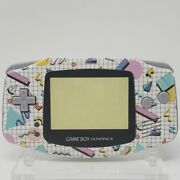 80s Retro Pattern Gba Complete Handheld Housing Shell Game Boy Backlit Ips Lcd