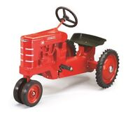 Farmall M Narrow Front Pedal Tractor W/white Stripe Grill By Scale Models Nib