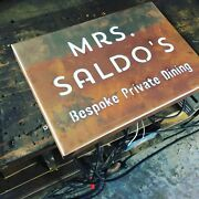 Illuminated Led Rusted Steel House Mail Box Signs Plaques Custom Made Laser Cut