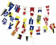 Marine Signalling Flags Andndash String Of 40 Flags Bunting - 38 Feet - 100 Cotton