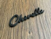 Trunk Emblem Badge Black For Chevelle Chevy 1965-1969 Old Rear Decal Lettering