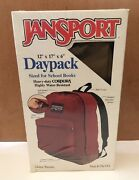 Vintage New Jansport Backpack Daypack Leather Bottom In Box Made In Usa
