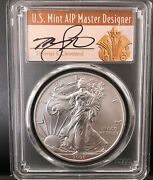 2008-w Cleveland Art Deco Reverse Of And03907 Burnished Silver Eagle Pcgs Sp70 Rev