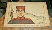 Very Early 1900s Soldat Japonais Postcard-signed, Georges Bigot, Military
