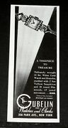 1945 Old Wwii Magazine Print Ad Gubelin 14 Kt. Gold. Sapphires 17 Jewel Watch
